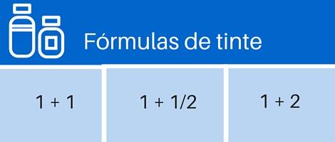 fórmulas tinte