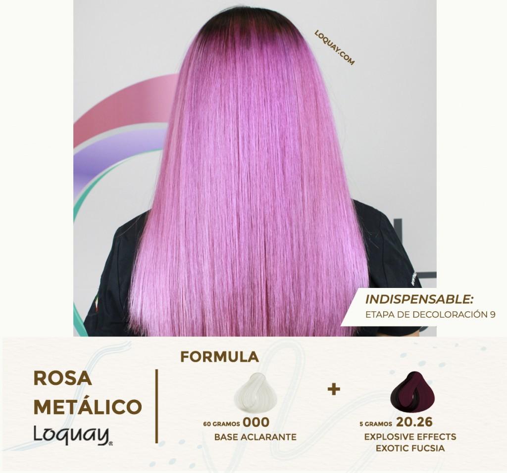 Rosa metalico