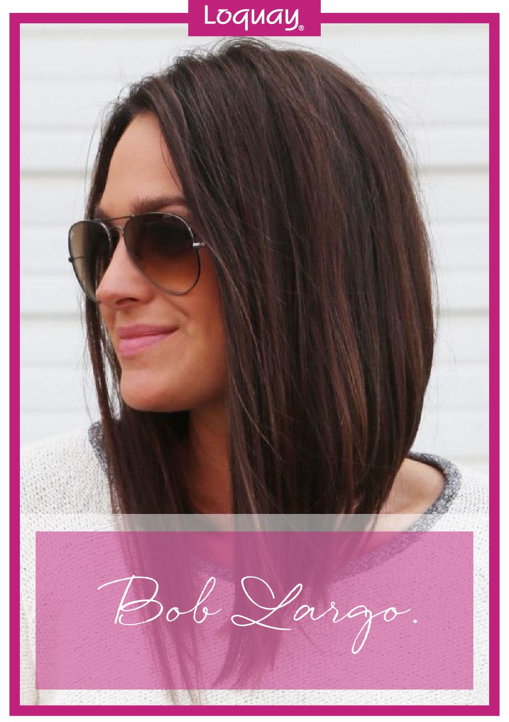 Corte de cabello bob largo cara redonda